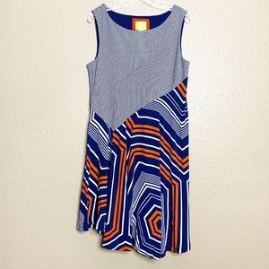 Anthropologie Maeve Cameron Asymmetrical Dress LP